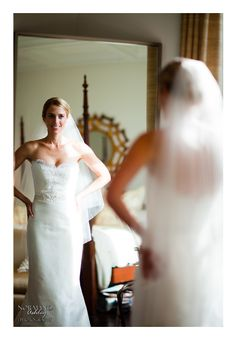 Bride sees herself for the first time all dressed up :) Chris & Siena's Wedding in The Berkshires | Kemble Inn | Lenox, MA