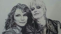 Ab Fab-Patsy and Eddie biro sketch