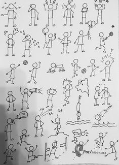 Doodle Drawings, Doodle Art, Drawing Tips, Line Drawing, Illustration Mignonne, Stick Figure Drawing, Visual Note Taking, Doodle People, Visual Learning