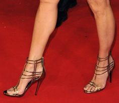 Sandra Bullock Is Effortlessly Glam in Roberto Cavalli Sandals