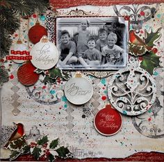 This festive layout by Rachael Funnell used products from the St. Nicholas collection by KaiserCraft.