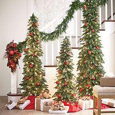 $79 Artificial Christmas Trees - Pre Lit Christmas Trees -  4' Grandin Road