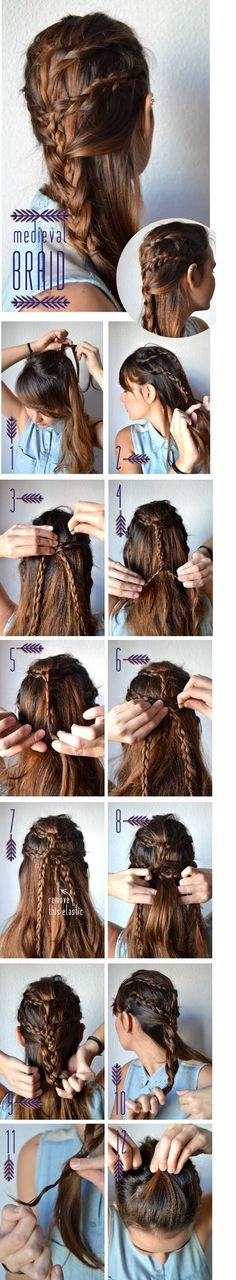 multi braided hair style