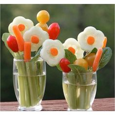 Veggie art. edible arrangements, kid lunches, flower bouquets, food, edible centerpieces, veggie tray, snack, parti, edible flowers