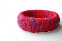 Knit fabric covered bangle. #jewelry #braclet