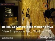 23/04/2013 ore 15:30 #invasione di Belìce/EpiCentro della Memoria Viva  Viale Empedocle 7/a _ Gibellina (TP)    @BeliceEpiCentro  #laculturasiamonoi #liberiamolacultura #invasionidigitali