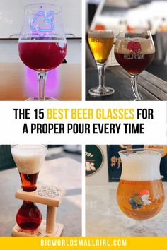 Proper beer glassware is a treasured part of beer culture. The right glass makes all the difference and can be the centerstage for a wonderful beer-drinking experience. All Beer, Best Beer, Beer Glassware, Gifts For Beer Lovers, Beer Recipes, Home Brewing, Craft Beer, Brewery, Alcoholic Drinks