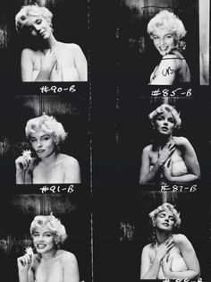 """ourmarilynmonroe: """" Contact sheet of Marilyn Monroe photographed by Cecil…"""