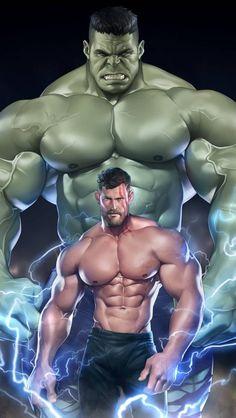 Hulk and Thor iPhone Wallpaper Free