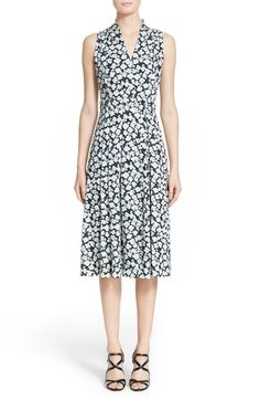Nordstrom Signature and Caroline Issa Floral Print Silk Twill Dress available at #Nordstrom