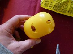 """Feed ball employment for cats from large surprise capsules ball for treats, made with """"kids Diy Cat Toys, Cats Diy, Cat Furniture, Lynx, Rubber Duck, Animals And Pets, Fur Babies, Kitty, Apple"""