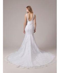 Mermaid Sweetheart Chapel train Tulle Wedding dress