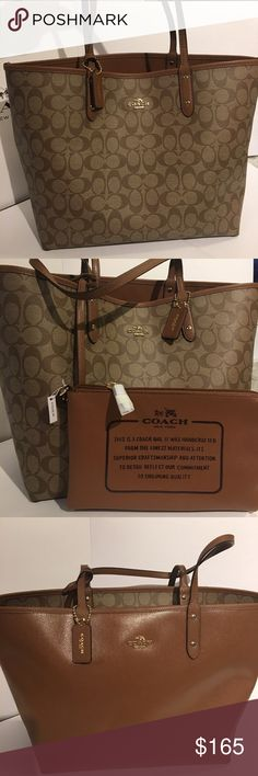 Coach Reversible Tote  NWT, Comes with gift box, ask me for gift receipt! No tradeGreat Christmas gift! Coach Bags Totes