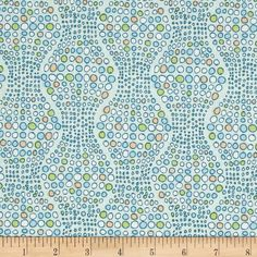 Art Gallery Indian Summer Pebbled Path River from @fabricdotcom  Designed by Sarah Watson for Art Gallery, cotton print is perfect for quilting, apparel and home decor accents. Art Gallery Fabric features 200 thread count of finely woven cotton. Colors include peach, white, green and blue.