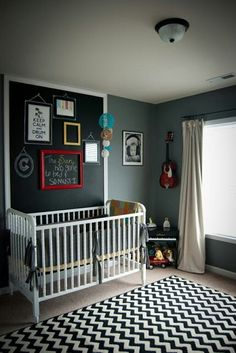 love the picture of the baby with headphones on the wall