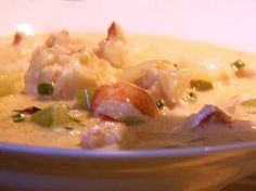 Lobster Corn Chowder recipe // Ina Garten