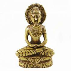 Brass Metal Buddha Sculpture Golden Figurine Hand Carved Art Ritual Home Decor Buddha Sculpture, Brass Metal, Home Decor Styles, Hand Carved, Carving, Indian, Statue, Design, Art