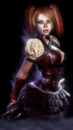 HARLEY QUINN / ARKHAM KNIGHT by JPGraphic