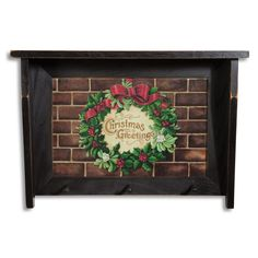 Christmas Wreath Shelf Rack | Sturbridge Yankee Workshop