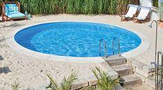 esempio di piscina interrata ottenuta da una piscina fuori terra