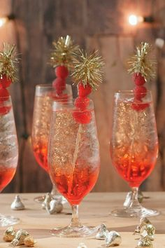 Cocktail Recipes for Your Oscar Party - Drink Recipes for The Academy Awards - Chardonnay Sparkler - Watching the most glamorous award show of the year obviously requires the most glamorous drink. Get the full recipe at redbookmag.com.