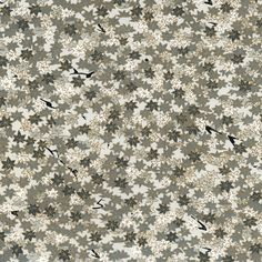 "18"" x 12"" Japanese Chiyogami Paper - Tiny Leaves - Soft Greys, White and Gold"