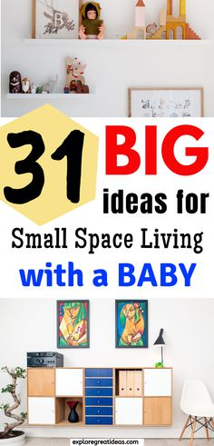 Preparing for pregnancy and baby with small space living? 31 Creative ideas to home decor and furnishing a small space. Small home, small houses ideas, decorating, organizing, maximising small spaces, small apartment ideas, DIY home décor, small kitchens, make the most of small space, small room,#smallspaceliving #mninimalism #babyregistry #newbaby #firsttimemom #baby #planningforbaby #babies #newmom #preparingforbaby #homedecor #furnishsmallspace #tinyspace Maximize Small Space, Small Space Living, Small Spaces, Plan For Life, Advice For New Moms, Baby On A Budget, Money Saving Mom, Baby Care Tips, Baby Planning