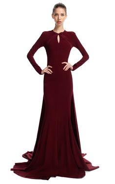 Brainy Mademoiselle: Burgundy Gown