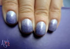 Violet Holograpic Gradient. Eveline Holographic Shine 406 and 414.