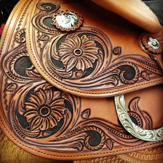 Closeup of our model C89 Montevallo Reiner , continental saddlery, reining saddle, reining, Nrha, NRBC