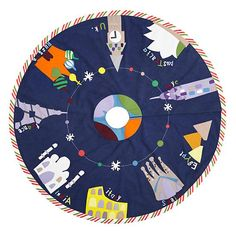 'Round the World Tree Skirt in Holiday Decor