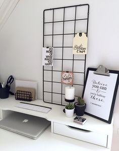 Minimalist black and white workspace, IKEA Alex desk. IKEA desk inspiration.