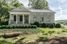 "savannahlondon: "" Mark Goodwin of Architecture, and Jim Blansfield of Builders, remodeled and expanded this Greek Revival Farmhouse "" Architecture Design, Revival Architecture, Residential Architecture, Modern Farmhouse Exterior, Farmhouse Style, Farmhouse Renovation, Cottage Farmhouse, Industrial Farmhouse, Farmhouse Plans"