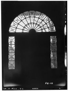 FRONT FANLIGHT FROM INTERIOR - Williams-Orme-Crawford House