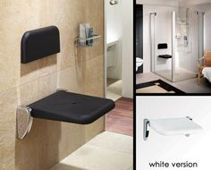 UK suppliers of lovely quality waterproof folding shower seats suitable for steam rooms and wet rooms.
