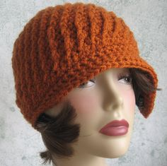 007d9e483f3 Crochet HAT PATTERN- Spiral Rib With Flapper Style Brim PDF Easy To Make-  Resell
