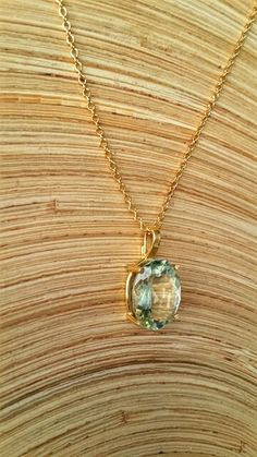 Real gold necklace, solid gold necklace, fine gold jewlery,  february birthstone pendant ,crystal necklace