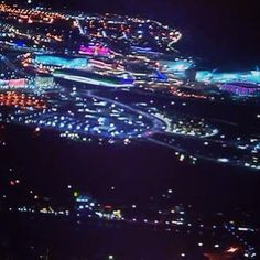 View of the Sochi Olympic Park, especially at night, mesmerizing!