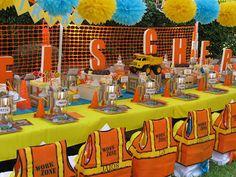 Happy Birthday Construction Themed Party