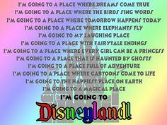 I'm going to Disneyland!