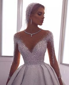 71 illusion long sleeve wedding dresses you'll like 8 Wedding Gowns With Sleeves, Long Wedding Dresses, Bridal Dresses, Dresses With Sleeves, Gown Wedding, Modest Wedding, Wedding Bride, Dresses Dresses, 1920 Dresses
