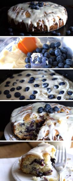 BEST BLUEBERRY CAKE {EVER} - Erren's Kitchen - this recipe is one of those desserts you'll crave once you try it!  The cream cheese icing is addictive!