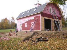 Shed roof attached to gambrel barn 32 39 x 40 39 gambrel for 32x40 garage plans