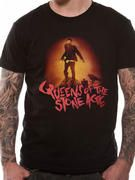 Officially licensed Queens Of The Stone Age t-shirt design printed on a 100% cotton short sleeved T-shirt.