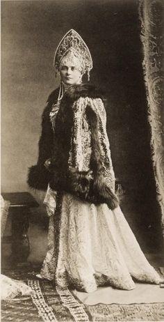 1903 costume ball the adorable and gorgeous Princess Zina Yussupov, countess Sumarokov Elston.