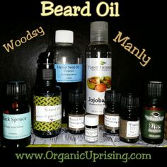 DIY Beard oil! This is incredibly easy to make beard oil that is nourishing, hydrating, and has a light woodsy and manly aroma. Take care of your beards, dudes, and ladies: take care of the bearded men in your life!