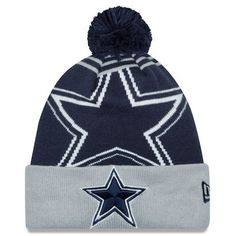 f89c31eec2c Men s Dallas Cowboys New Era Navy Gray Logo Whiz Cuffed Knit Hat