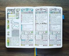 bullet journal August weekly spread layout | bullet journal inspiration | bujo page ideas | bullet journal layout ideas | bullet journal organization hacks | how to start a bullet journal