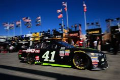 At-track photos: Las Vegas weekend  Sunday, March 12, 2017  Kurt Busch drives the No. 41 Monster Energy/Haas Automation Ford through the garage area during practice for the Monster Energy NASCAR Cup Series Kobalt 400 at Las Vegas Motor Speedway on March 11, 2017 in Las Vegas, Nevada.  Photo Credit: Getty Images  Photo: 46 / 71