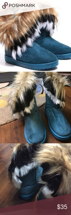 Faux Fur Snow Boots Keep Warm and Stylish with these Snow Boots! Thick Sole for Walking and staying comfortable ! lflor010 Shoes Winter & Rain Boots